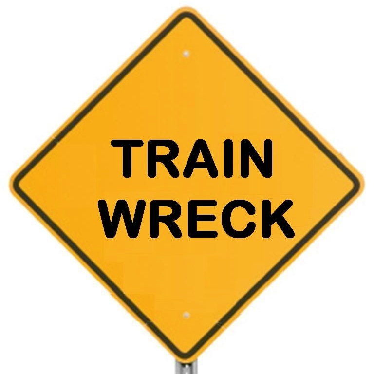 Train Wreck Cartoon It's my idea (the train wreck show!) mymac podcast ...Obamacare Funny