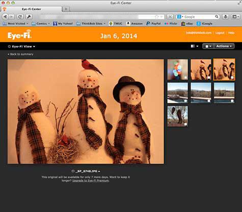 Eye-Fi Center web site