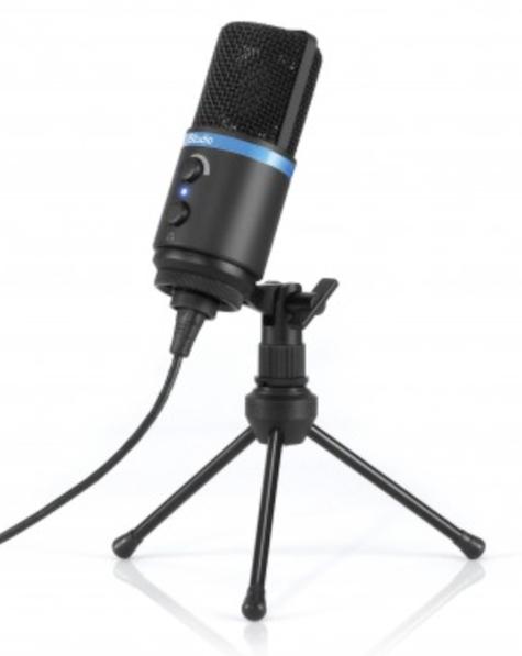 mic on tripod