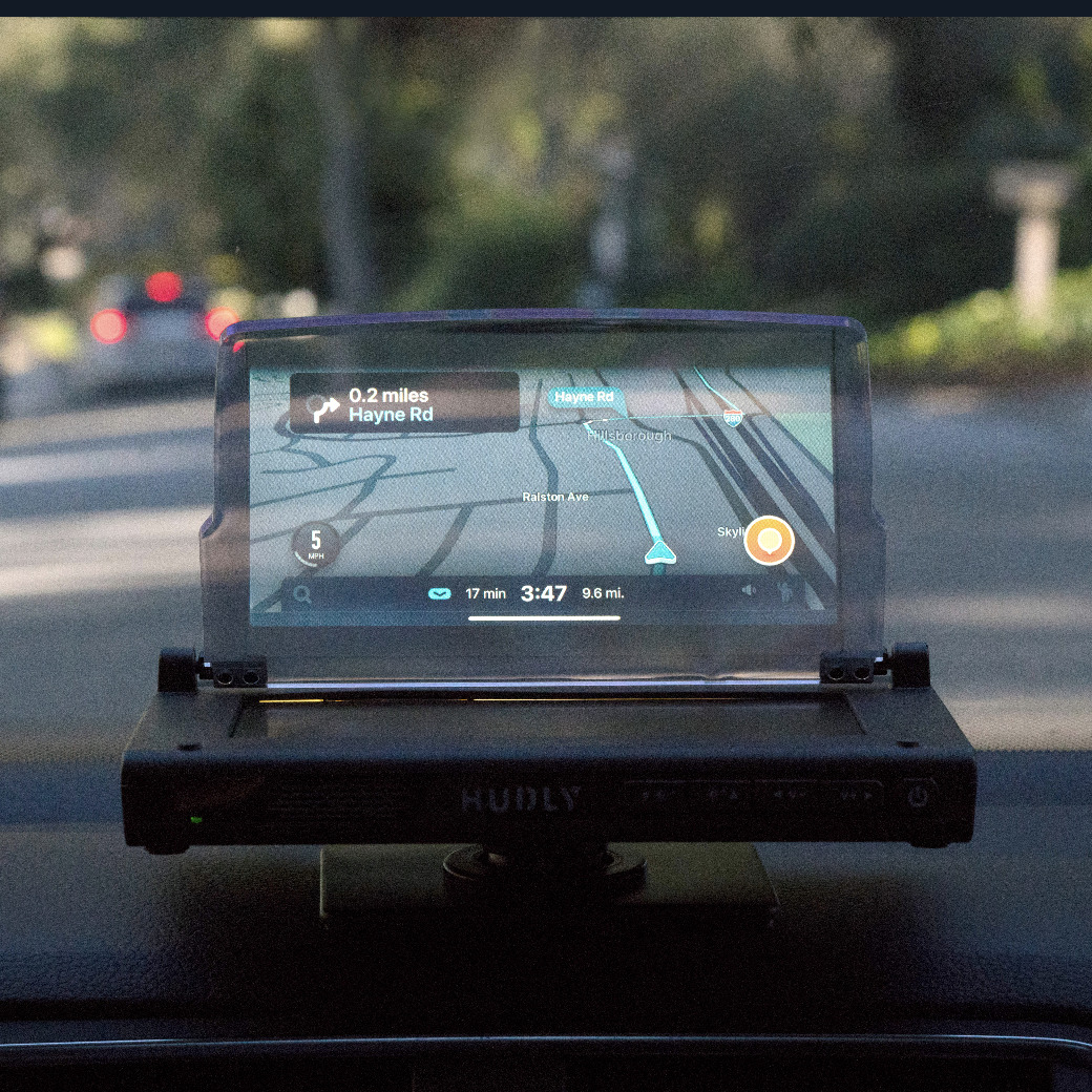 hudly wireless heads up display review hudly wireless. Black Bedroom Furniture Sets. Home Design Ideas